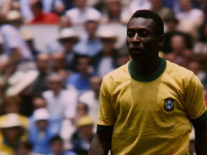 Pelé em um momento do documentário da Netflix.