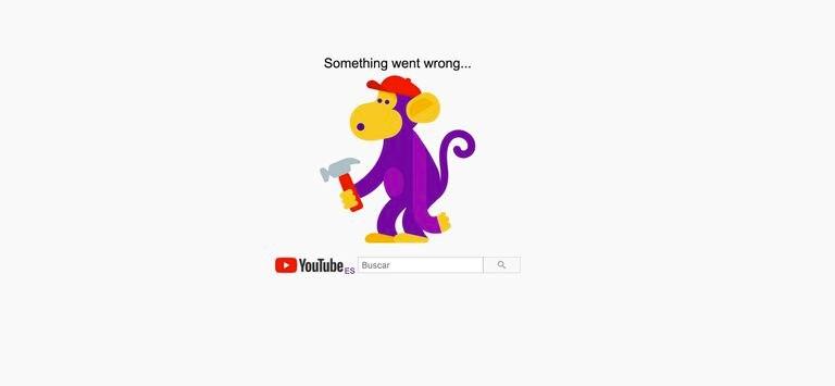 Reprodução de tela do Youtube indicando o problema no acesso