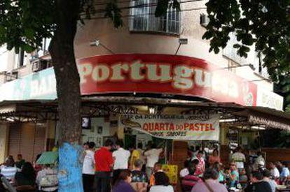 Bar da Portuguesa, no bairro de Ramos.