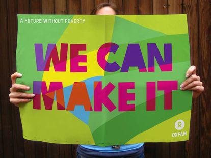 Campanha da Oxfam assinada pela criadora