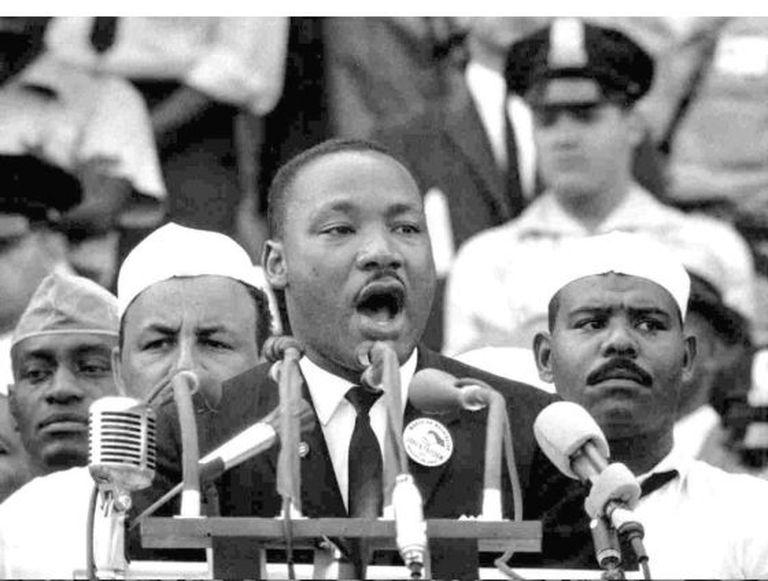 Luther King, em seu histórico discurso em Washington, em agosto de 1963.