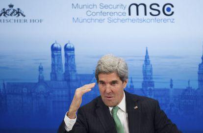 John Kerry, na conferência de segurança de Munique.