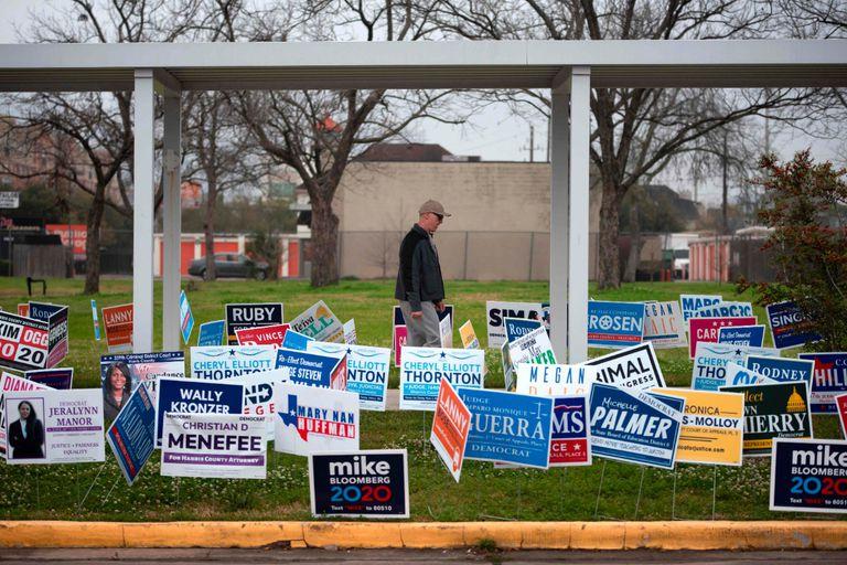 Um colégio eleitoral, esta terça-feira em Houston, Texas.