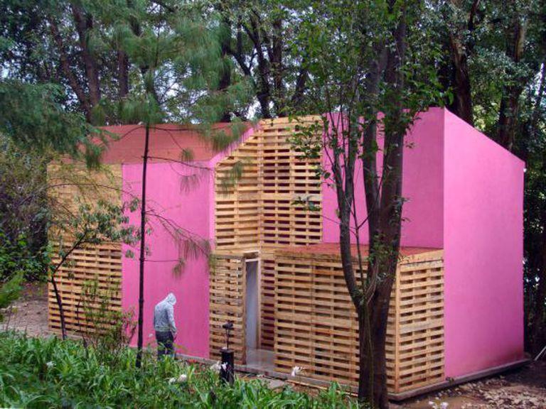 O projeto para uma casa urbana.