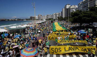 Manifestação no Rio de Janeiro neste domingo.