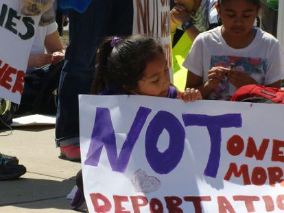 Protesto contra as deportações neste sábado em Atlanta.