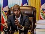 El presidente de Haití, Jovenel Moïse, durante la conversación con EL PAÍS vía videollamada.