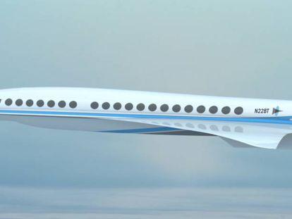 Imagem virtual do avião criado por Boom Technology.