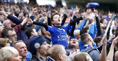 Torcedores do Leicester na partida contra o Southampton.