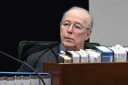 O ministro Celso de Mello durante sessão do STF em 2019.