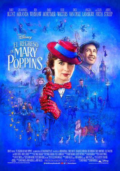 Cartaz de 'O Retorno de Mary Poppins'.