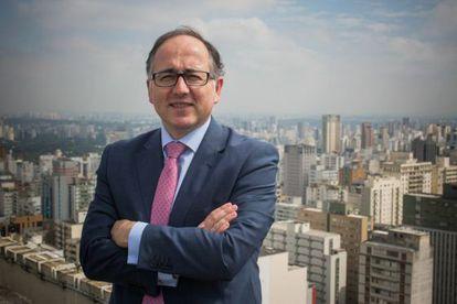 O presidente da Iberia Luis Gallego em São Paulo.