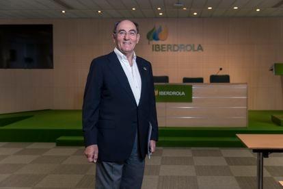 Ignacio Galán, na sede da Iberdrola durante a entrevista