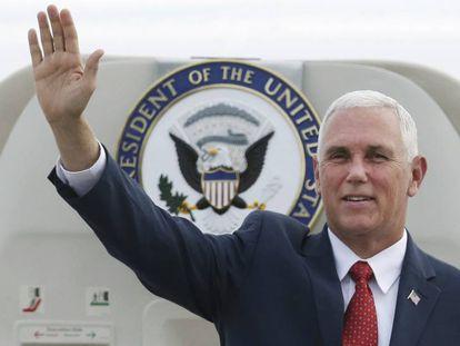 O vice-presidente dos EUA, Mike Pence, desembarcou no Brasil nesta terça-feira.
