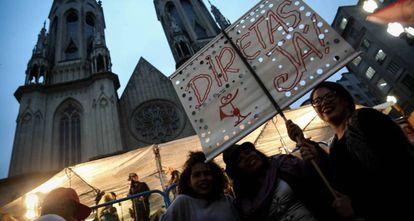 Protesto em São Paulo no ano passado.