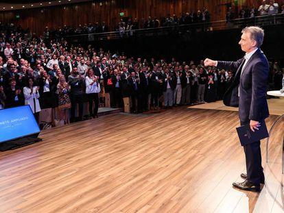 O presidente da Argentina, Mauricio Macri, em um encontro com membros de seu Governo no dia 21 de março.