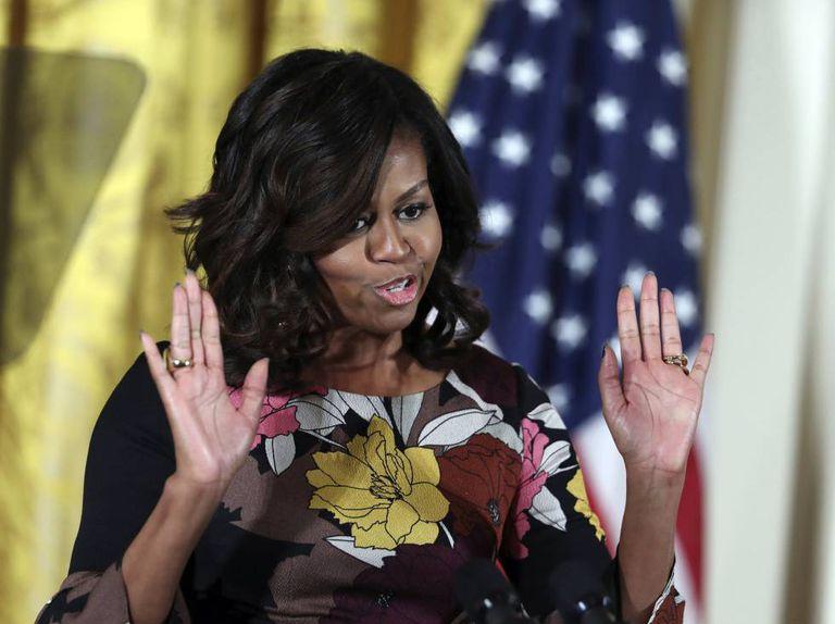 Michelle Obama, na segunda-feira.