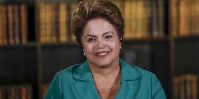 Rousseff concede entrevista no Palácio da Alvorada.