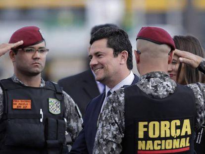 O ministro da Justiça Sergio Moro, em Brasília, no último dia 3.