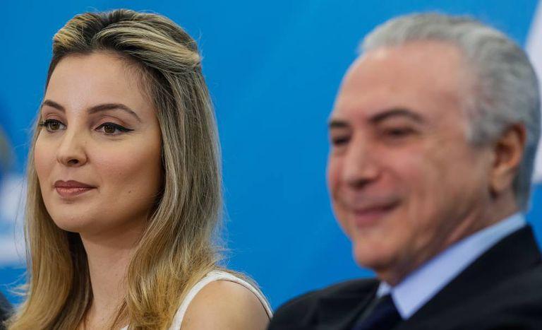 Marcela e Michel Temer, em outubro passado, em Brasília.