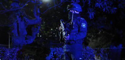 Policial de Veracruz durante uma operação.