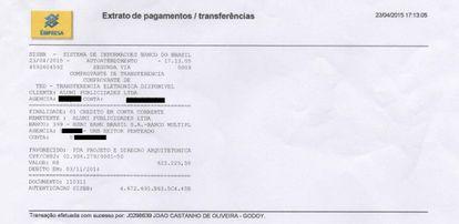 Pagamento para empresa do coronel Lima, que sócio da Engevix mencionou em tentativa de delação