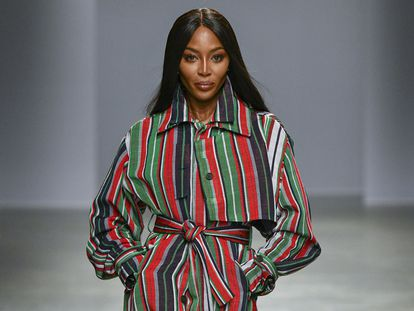 Naomi Campbell, na semana da moda de Paris, em fevereiro de 2020.