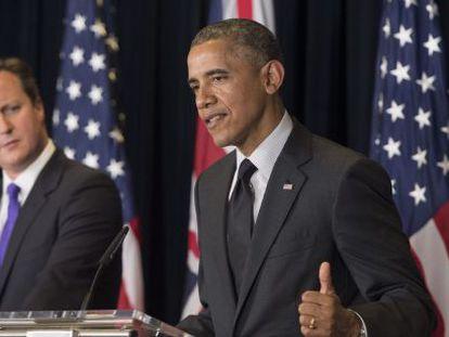 Obama e Cameron nesta quinta-feira.