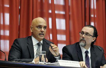O secretário Alexandre de Moraes.