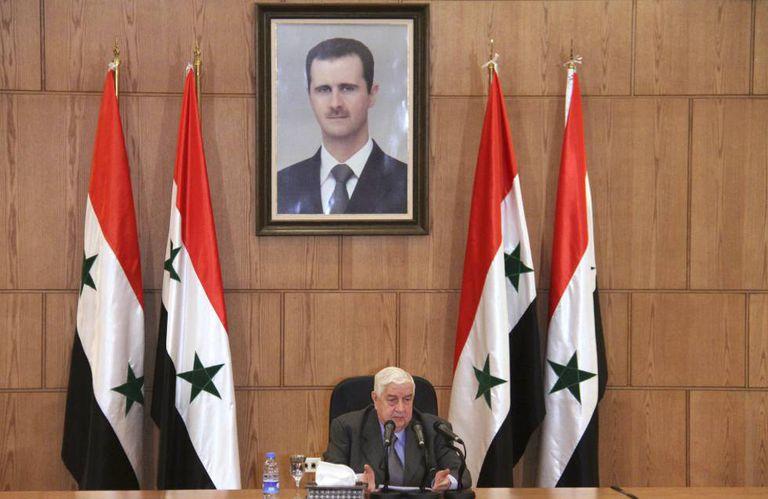 O chanceler da Síria, Walid Moalem, na quinta-feira em Damasco.