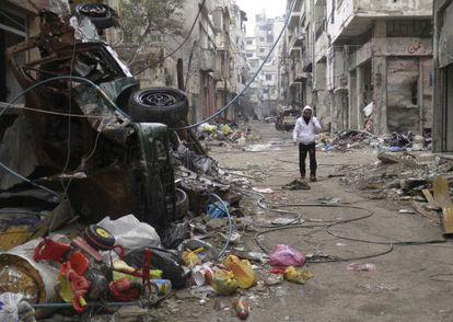 Homs, Síria, em uma foto deste 26 de janeiro.
