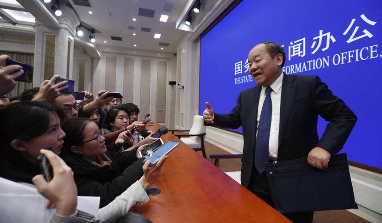 Ning Jizhe, chefe do Escritório Nacional de Estatísticas da China.