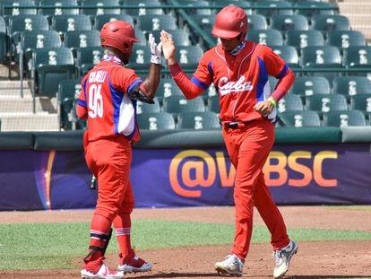 Equipe de beisebol de Cuba durante um jogo disputado em agosto em Ciudad Obregón, México.