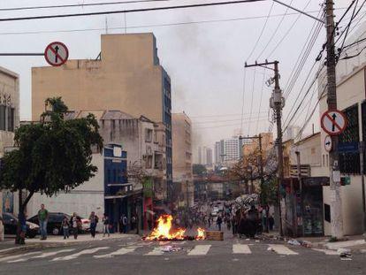 Rua 12 de Outubro, na Lapa de Baixo (oeste de São Paulo).