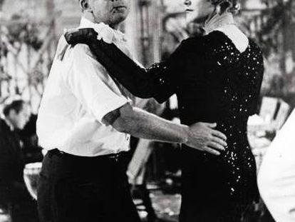 Billy Wilder e Jack Lemmon durante a rodagem de 'Quanto Mais Quente Melhor'.