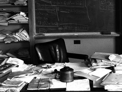 O escritório de Albert Einstein em Princeton