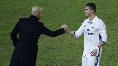 Zidane e Cristiano Ronaldo durante a final do Mundial.