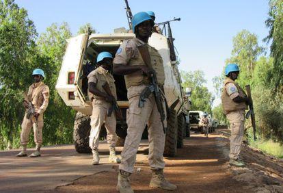 Base da ONU na região de Timbuktu.