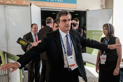 O ministro Cardozo, no Rio, no dia 19. (YASUYOSHI CHIBA/ AFP)