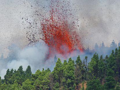 Erupção do vulcão em La Palma, na Espanha.