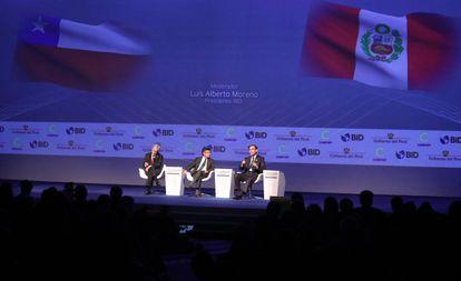 Evento da Cúpula Empresarial das Américas, prévia da Cúpula das Américas, no Peru.