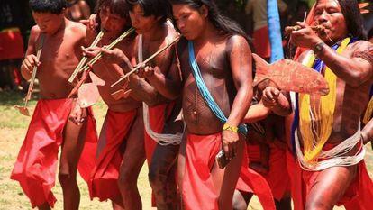 Os indígenas Wajãpi.