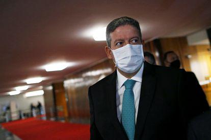 O presidente da Câmara, Arthur Lira, nesta terça-feira, em Brasília.