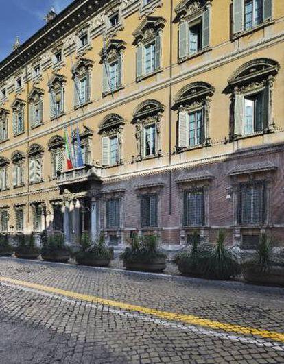 Palazzo Madama, em Roma, sede do Senado italiano, onde impera a sofisticação.
