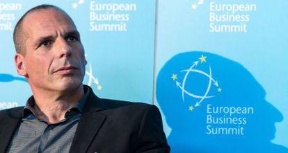 Varoufakis, em um ato no dia 7 de maio.