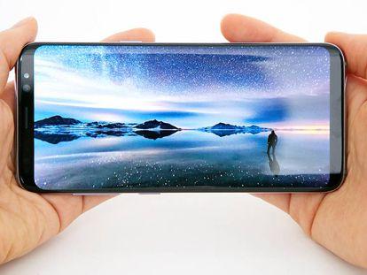 O Galaxy S8+.