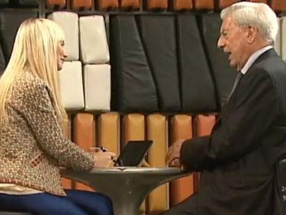 Imagem de um dos momentos da entrevista.