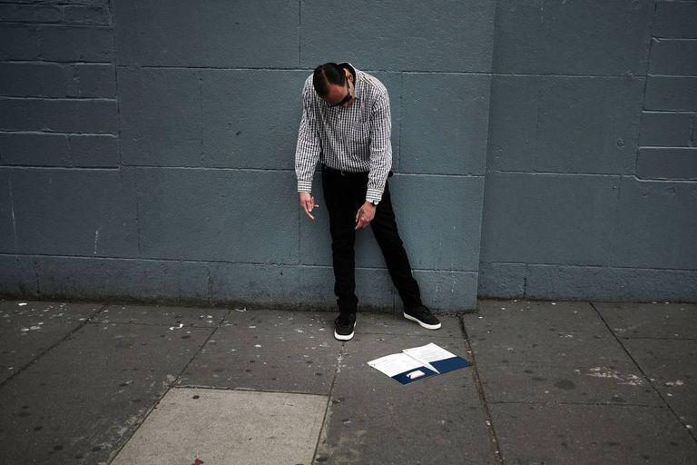 Viciado em uma rua do Bronx, em Nova York.