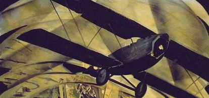 Tato (Guglielmo Sansoni), 'Voar sobre o Coliseu em espiral', 1930.
