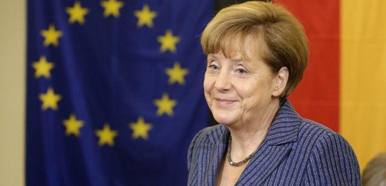 O chanceler alemã, Angela Merkel, após votar em seu colégio eleitoral em Berlín.